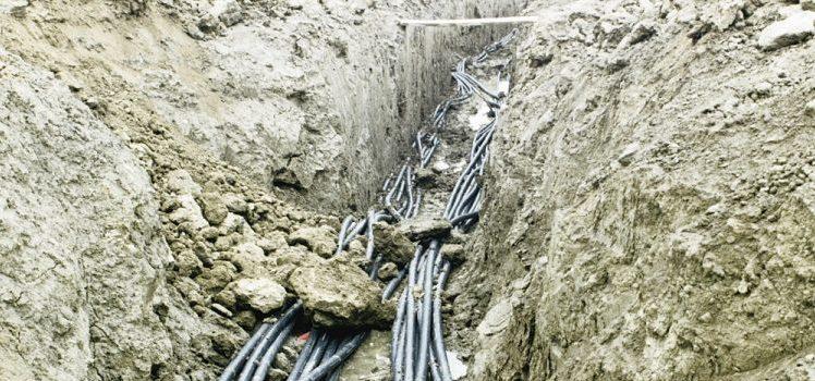 GSHP trench